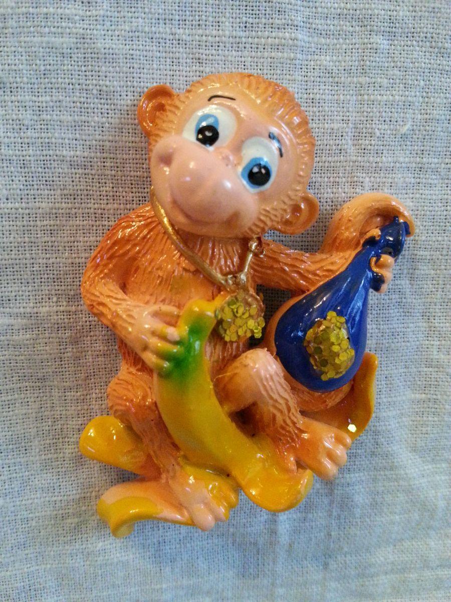 Магниты на холодильник обезьянка 002-3